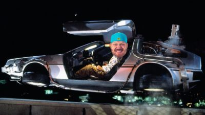 Jason photoshopped in a delorean from back to the future