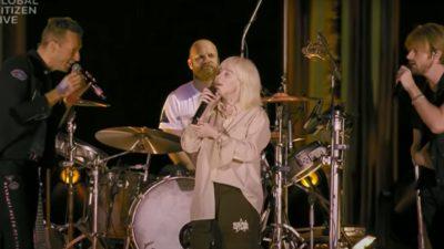 Billie Eilish, Finneas, Coldplay