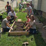 Shepard Community Center gardening