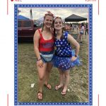 left to right: women in red usa tank top, women in blue star tutu
