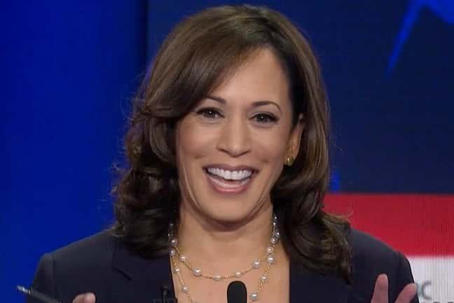 Kamala Harris at one of the debates