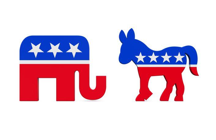 elephant and donkey logo (nerthuz/Thinkstock)