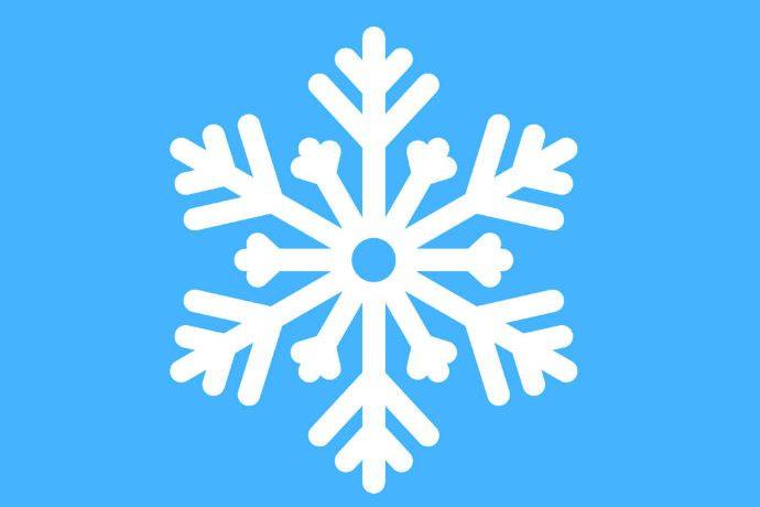 Snowflake on blue background