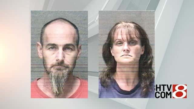 Mugshots of James and Riley Young. Photo by Albany PD/WISH TV.