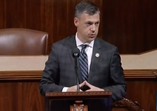 Rep. Jim Banks on the House floor