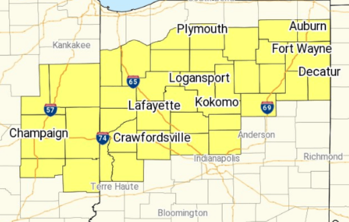 Severe thunderstorm watch Indiana (Photo National Weather Service Indianapolis)
