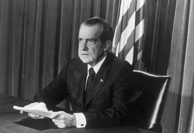 PHOTO: Getty Images/Hulton Archive Nixon resigns