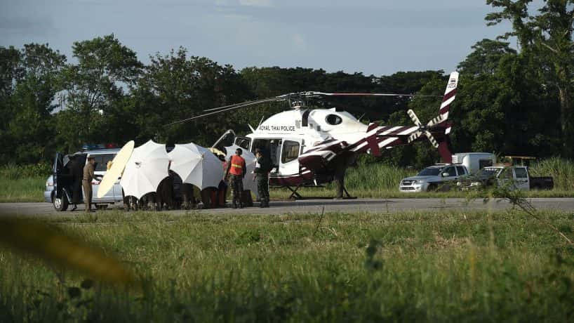 Rescue operations are over for Monday (PHOTO: Lillian Suwanrumpha/Getty Images)