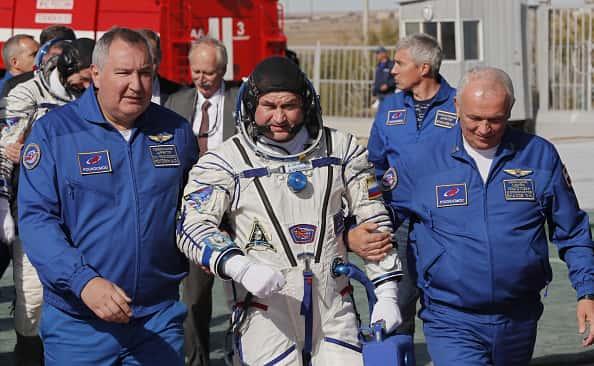 Astronauts on board a Soyuz rocket survived an emergency landing (PHOTO: Yuri Kochetkov/Getty Images)