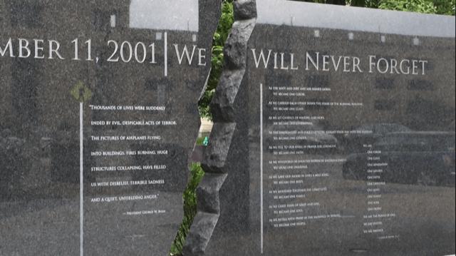Granite markers at the Indianapolis 9/11 Memorial