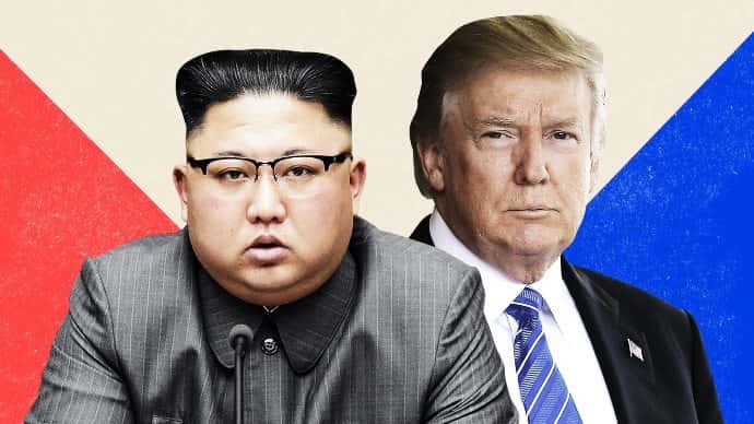 Kim Jong Un and Donald Trump will meet in Singapore. Photo by CNN Illustrations/Getty Images.