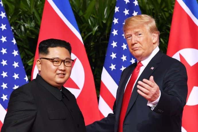 President Trump and Kim Jong Un. Photo by Saul Loeb/AFP/Getty.