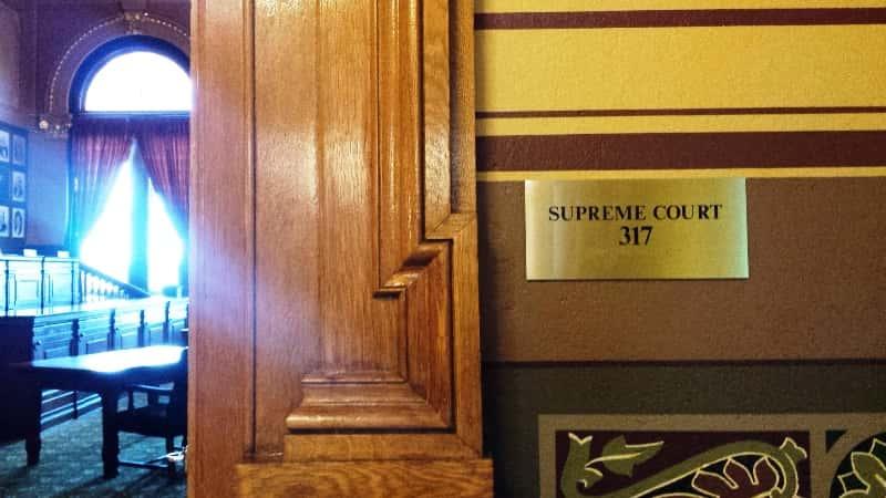 Indiana Supreme Court courtroom entrance
