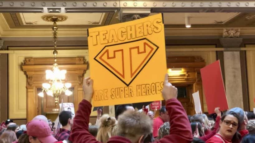 indiana teacher rally