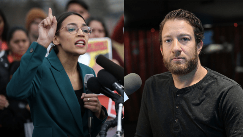 AOC and Barstool Sports founder Dave Portnoy went at it on Twitter on Tuesday night.