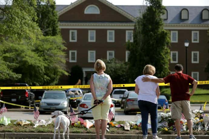 Mourners Gather at site of Virginia Beach Massacre