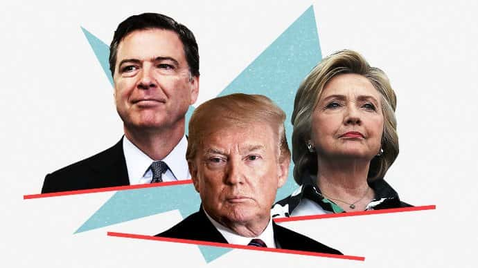 The DOJ IG has released its report on James Comey, Hillary Clinton, 2016 campaign. Photo by Getty Images for CNN.