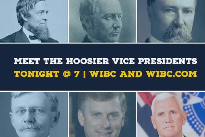pictures of the six Hoosier VPs. Graphic: Ashley Fowler/Emmis