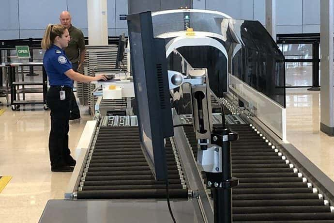 new CT luggage scanner at Indianapolis International Airport (Berman/WIBC)