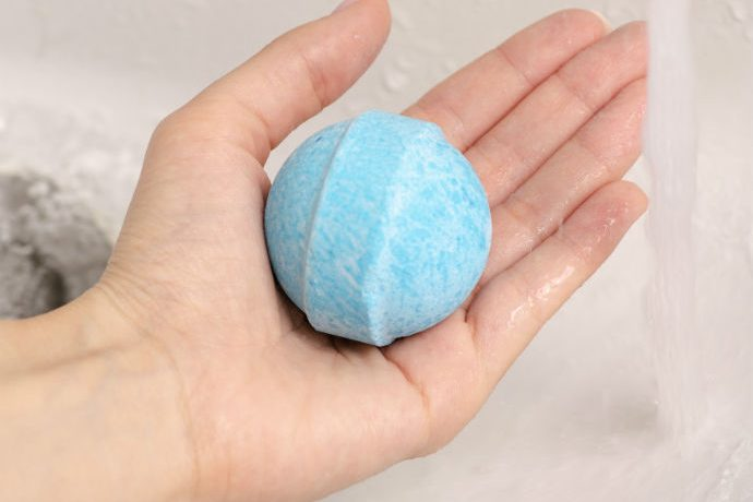 Bath Bombs held in woman's hand