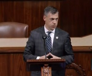 Congressman Jim Banks speaks on the House floor in opposition to the latest pandemic stimulus proposal.
