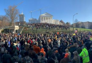 Image courtesy of Rep. Jim Lucas (R-Seymour), who attended today's rally in Richmond
