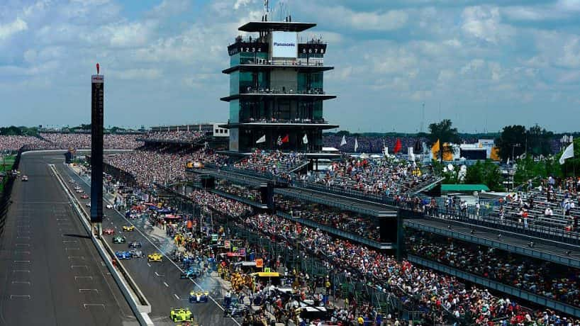 Frontstretch at the Indianapolis Motor Speedway (Robert Laberge/Getty)