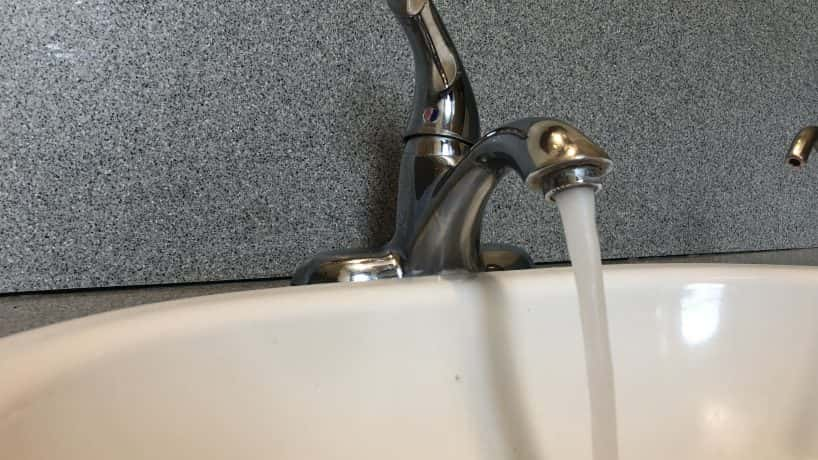 running water in sink