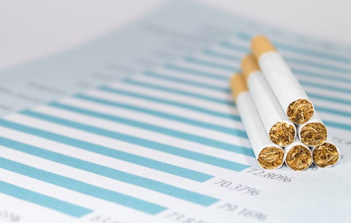 cigarettes stacked in a pyramid (SebastYin/Thinkstock)