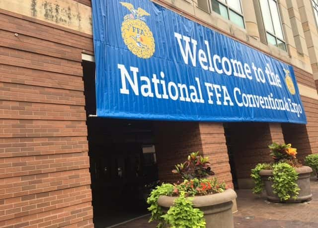 FFA banner outside the Indiana Convention Center