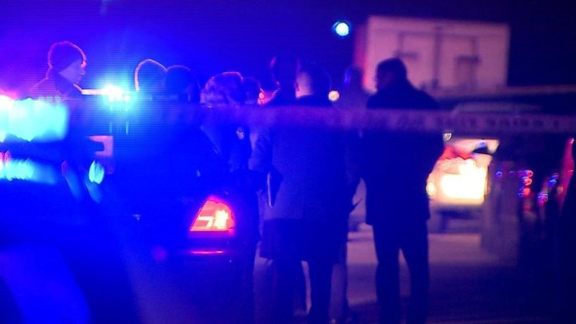 Police investigating a crime in Indianapolis