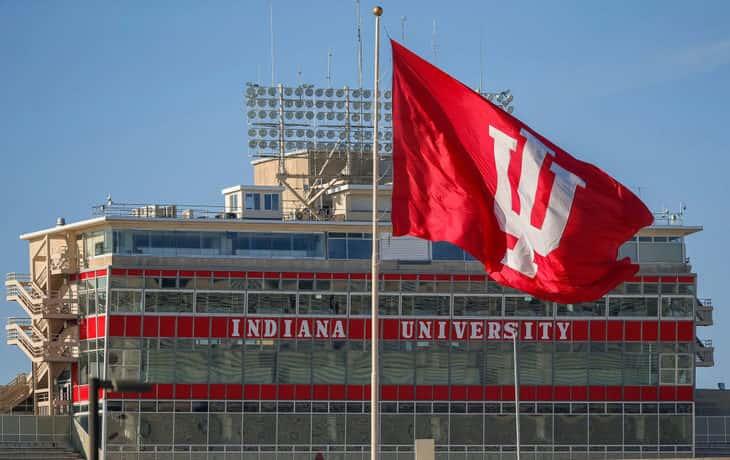 IU flag and stadium