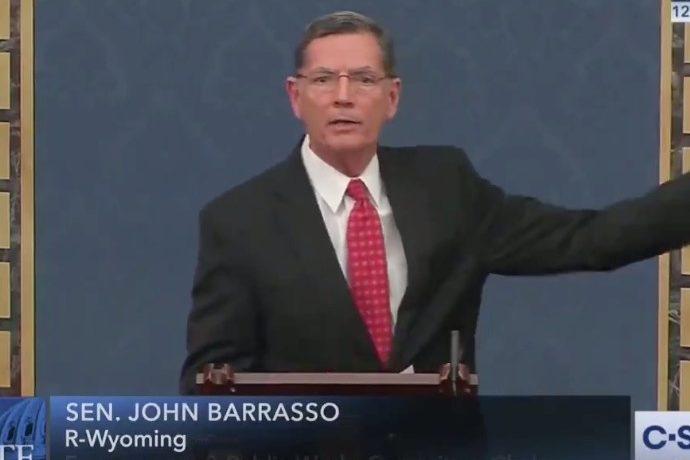 Senator John Barrasso delivers comments from the floor of the U.S. Senate.