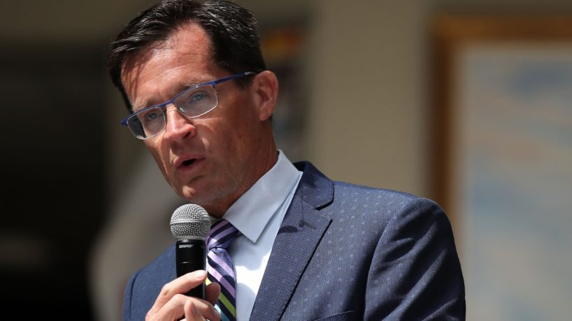 IMS President Doug Boles speaks during a press conference at Indianapolis Motor Speedway on May 25, 2019 in Indianapolis, Indiana.
