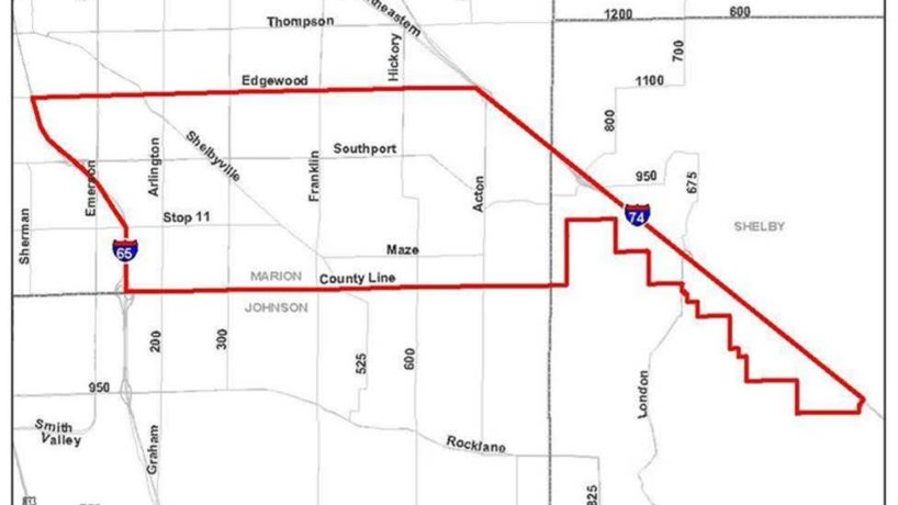 map of area affected by Boiling Advisory