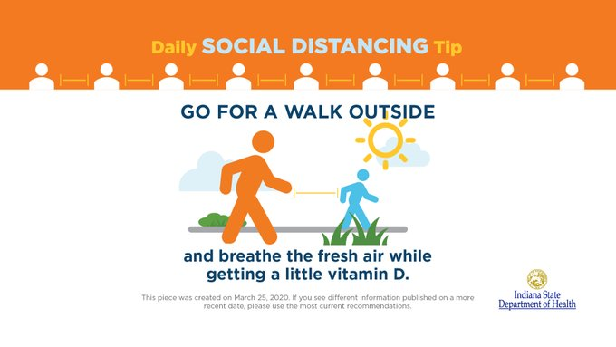 A photo of a social distancing tip