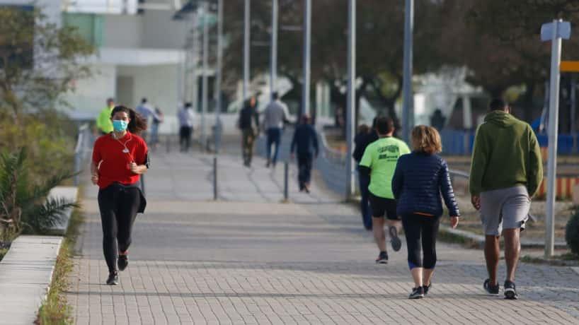 People walking in Lisbon