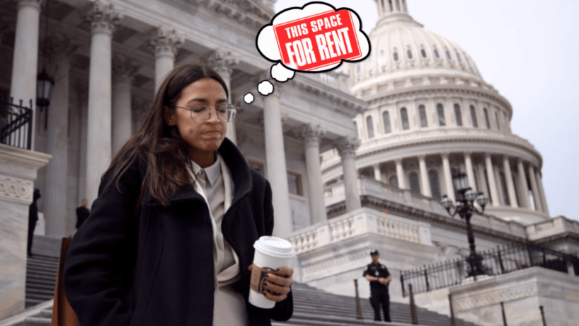 Rep. Alexandria Ocasio-Cortez (D-NY) leaves the U.S. Capitol after passage of the stimulus bill known as the CARES Act on March 27, 2020 in Washington, DC. The stimulus bill is intended to combat the economic effects caused by the coronavirus pandemic.