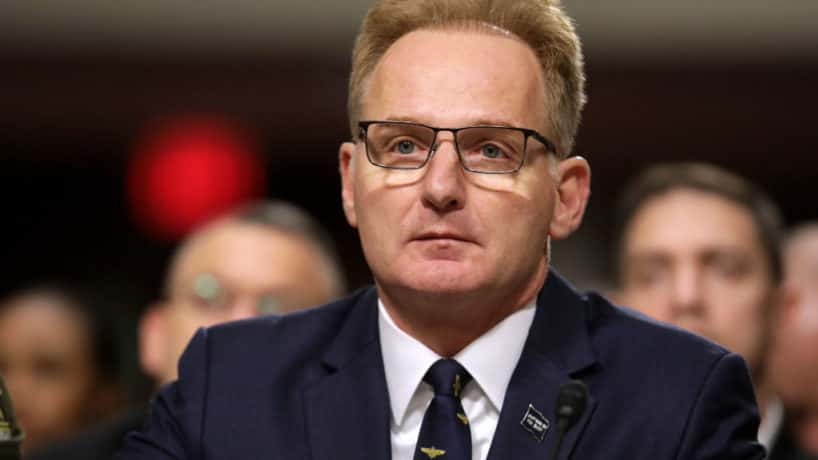 Acting Navy Secretary Thomas Modly testifies before the Senate Armed Services Committee in the Dirksen Senate Office Building on Capitol Hill December 03, 2019 in Washington, DC. Military secretaries and members of the Joint Chiefs testified about a new GAO report about ongoing reports of substandard military housing conditions and services.