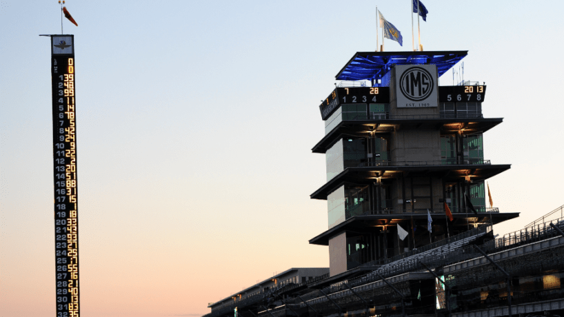 The Pagoda and fronstretch at Indianapolis Motor Speedway.