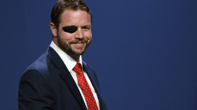 U.S. Rep. Dan Crenshaw (R-TX) smiles after speaking at the Republican Jewish Coalition's annual leadership meeting at The Venetian Las Vegas after appearances by U.S. President Donald Trump and Vice President Mike Pence on April 6, 2019 in Las Vegas, Nevada. Trump has cited his moving of the U.S. embassy in Israel to Jerusalem and his decision to pull the U.S. out of the Iran nuclear deal as reasons for Jewish voters to leave the Democratic party and support him and the GOP instead.