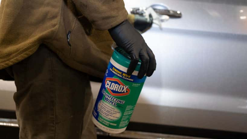 Hoosier buying clorox bleach to deal with covid-19.