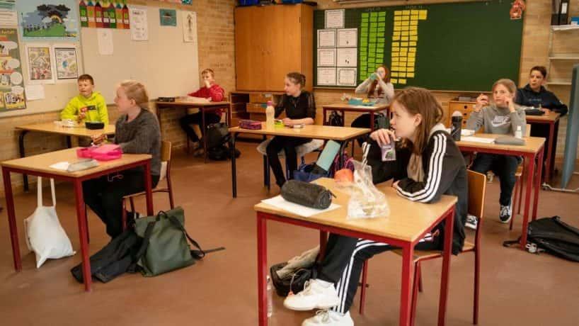 Children at school in Denmark