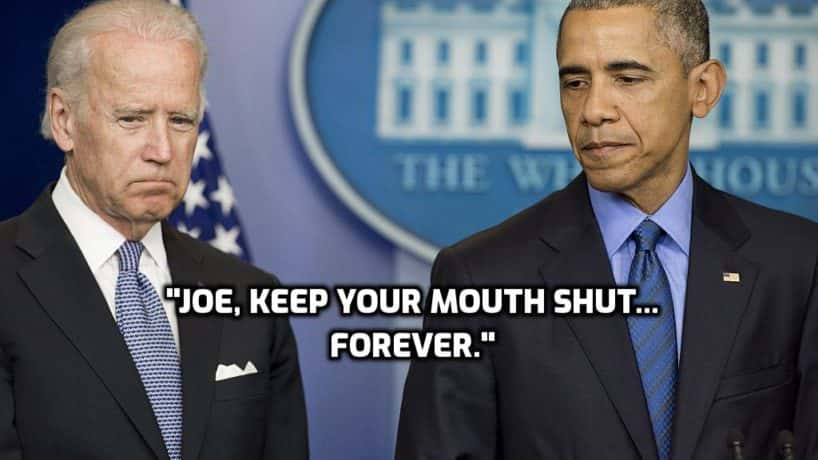 Obama Tells Biden to Shut Up.