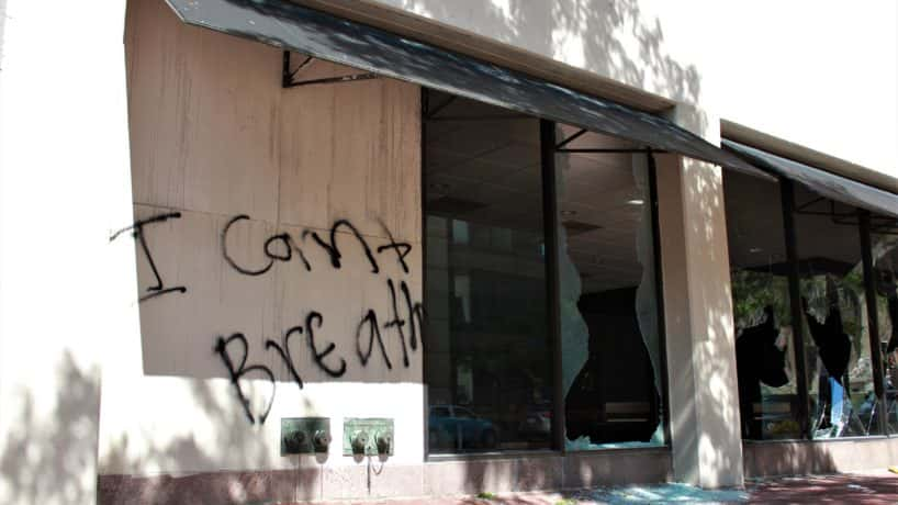 Graffiti and broken windows