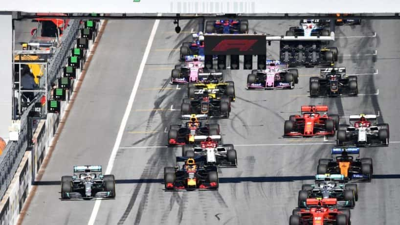 Formula One start at 2019 Austrian Grand Prix