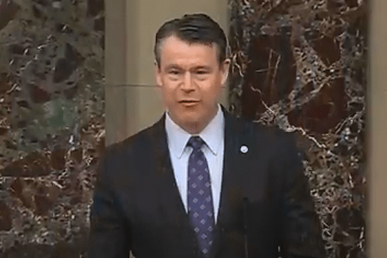 Sen. Todd Young speaks on the Senate floor
