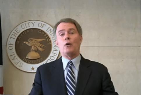 Mayor Joe Hogsett speaks