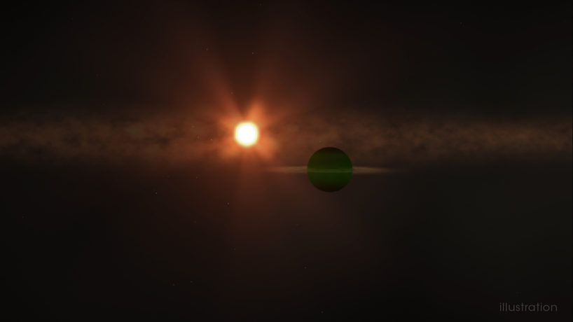 Planet orbiting a star