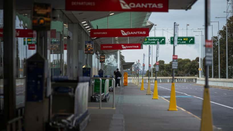 Melbourne airport empty